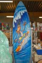 Decorations for amusement park: giant board of surfing.