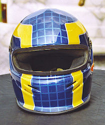 Personalized helmet: geometrical reasons, squaring and arrow (front view).