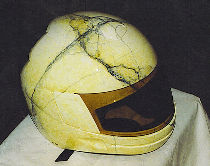 Helmet personalized in false marble.